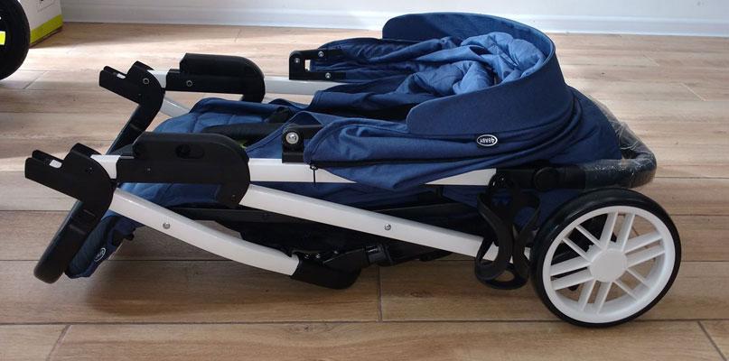 złożony wózek spacerowy moody