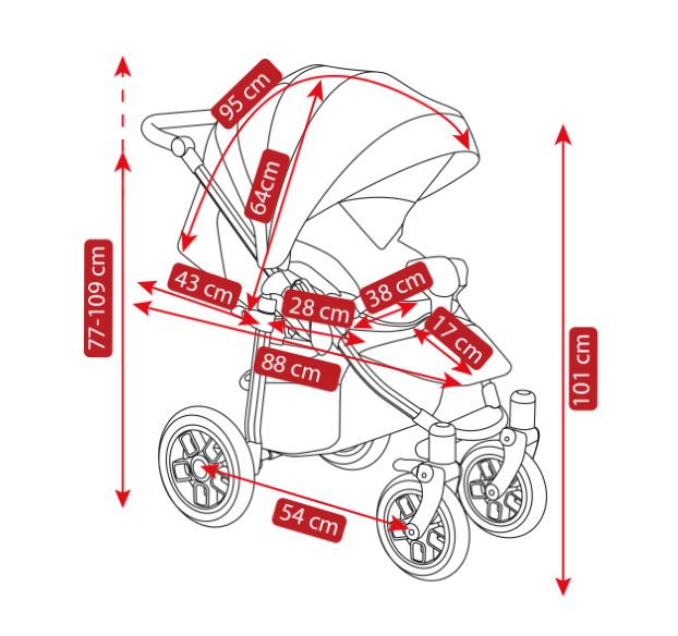 wymiary wózka