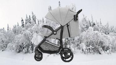 tani wózek spacerowy na zimę
