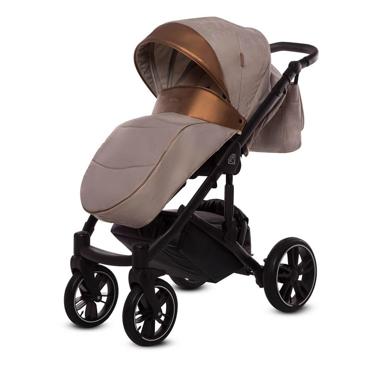 wersja spacerowa wózka babyactive chic z pokrowcem na nóżki