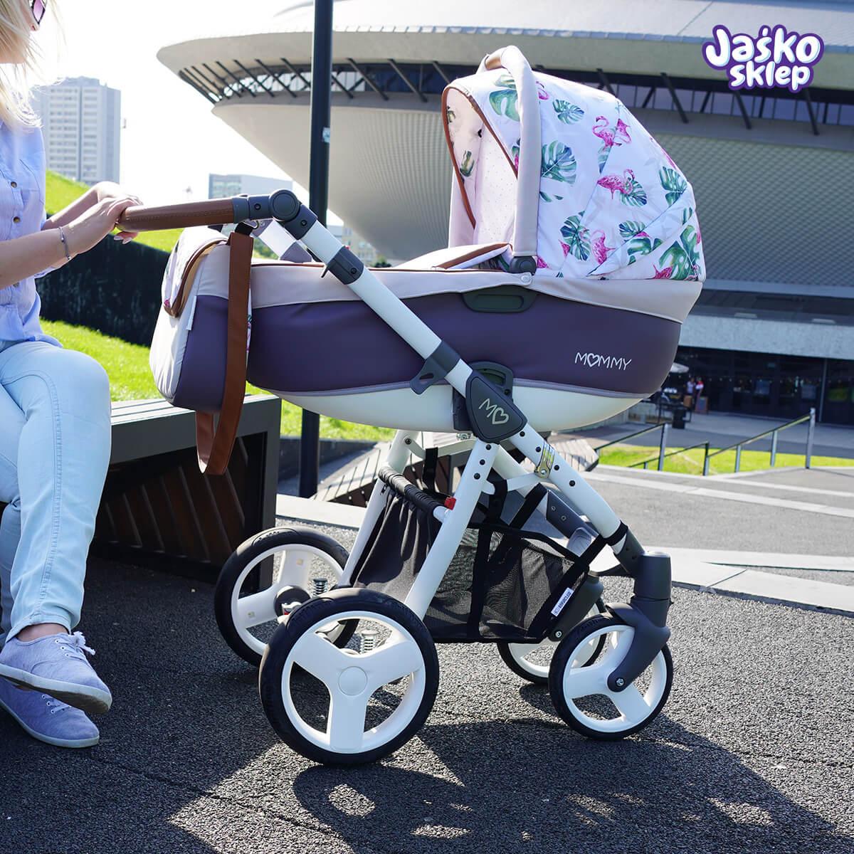 babyactive flamingi wózek dziecięcy