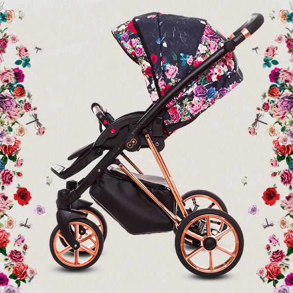 kwiatowy design wózka