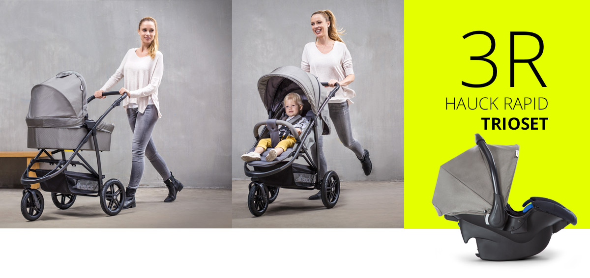 wózek 3w1 firmy hauck - rapid 3r wielofunkcyjny