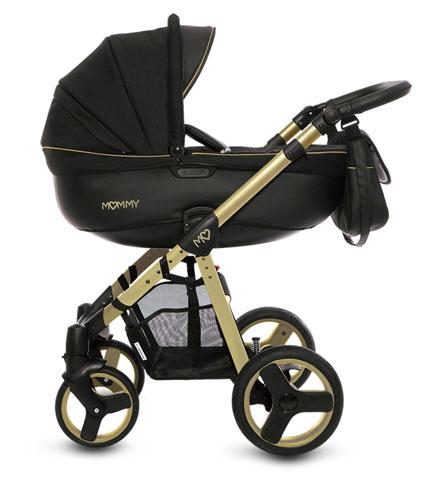 wózek gold firmy babyactive złota rama