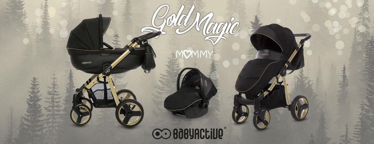 wózek dzięciecy babyactive mommy gold złoty stelaż